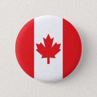カナダの旗 5.7CM 丸型バッジ
