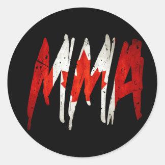 カナダの旗MMA ラウンドシール