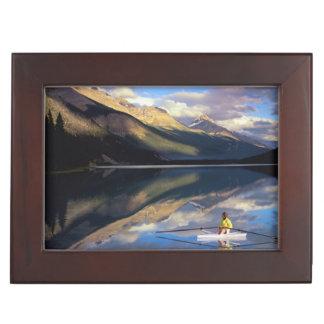 カナダの氏のBanff湖の漕ぎ手) ジュエリーボックス