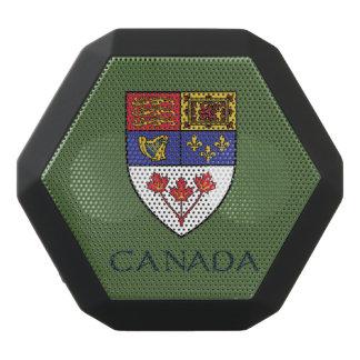 カナダの紋章付き外衣 ブラックBluetoothスピーカー
