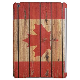 カナダの素朴な木製の旗