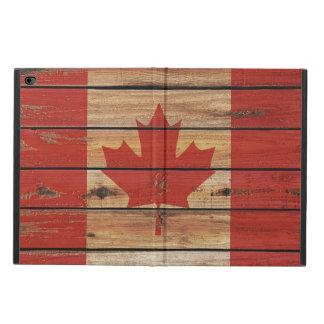 カナダの素朴な木製の旗 POWIS iPad AIR 2 ケース