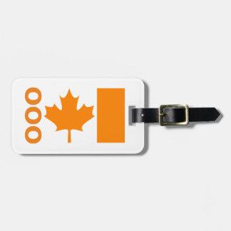 カナダの荷物のラベルのオレンジはあなたの接触情報を加えます ラゲッジタグ
