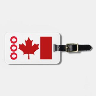 カナダの荷物Tage (あなたの接触情報を加えて下さい) ラゲッジタグ