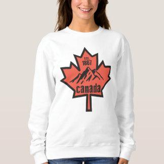 カナダの葉 スウェットシャツ