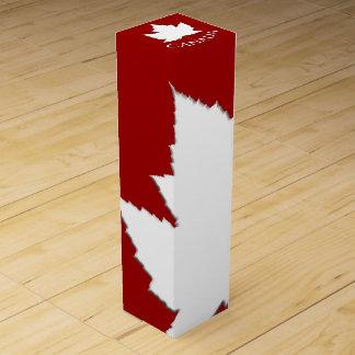 カナダの記念品のワイン箱のカスタムなカナダの旗箱 ワインギフトボックス