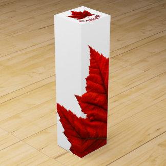 カナダの記念品のワイン箱のカスタムなカナダ箱 ワインギフトボックス