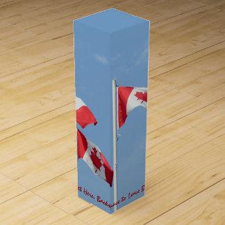 カナダの記念品のワイン箱名前入りなCNの記念品 ワインギフトボックス