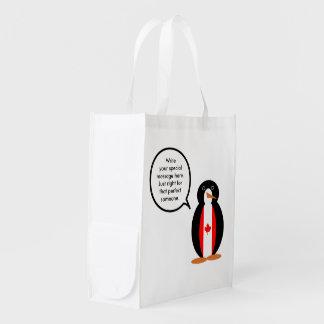 カナダの話すペンギンの旗 エコバッグ