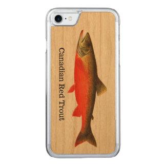 カナダの赤いマスの魚 CARVED iPhone 8/7 ケース