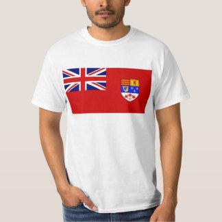 カナダの赤い旗の旗 Tシャツ