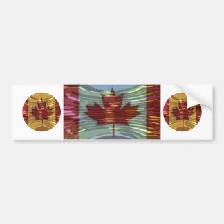 カナダの金ゴールドMapleLeaf -多様性の成功 バンパーステッカー