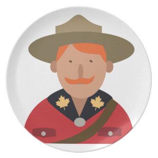カナダの騎馬警察官 プレート