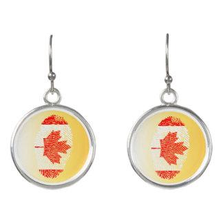 カナダのtouchの指紋の旗 イヤリング