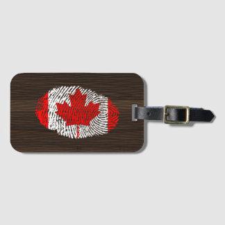 カナダのtouchの指紋の旗 ラゲッジタグ