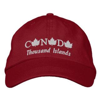 カナダは千の島の帽子を刺繍しました 刺繍入りキャップ
