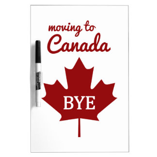 カナダへの移動 ホワイトボード