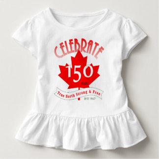 カナダを150年祝って下さい トドラーTシャツ