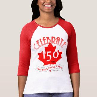 カナダを150年祝って下さい Tシャツ