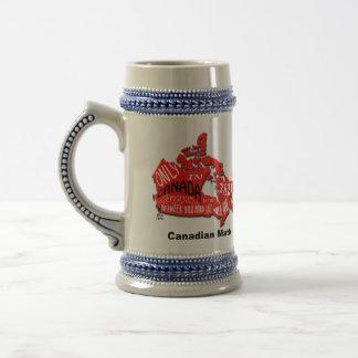 カナダステインのマグの地図 ビールジョッキ