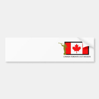 カナダトロントの東の代表団LDS CTR バンパーステッカー