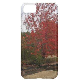 カナダトロントの赤い開花-滝の意見 iPhone5Cケース