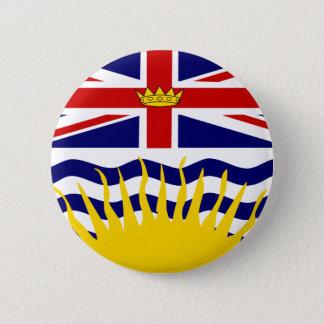 カナダブリティッシュ・コロンビアの旗 5.7CM 丸型バッジ