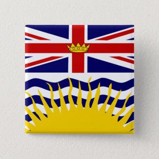 カナダブリティッシュ・コロンビアの高品質な旗 5.1CM 正方形バッジ