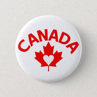カナダボタン 5.7CM 丸型バッジ
