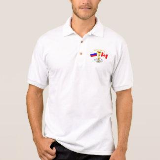 カナダロシアのオリンピック外交官のポロ ポロシャツ
