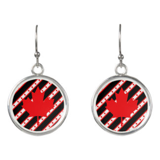 カナダ人のストライプな旗 イヤリング