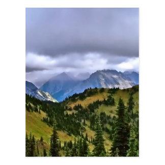 カナダ人ロッキー山脈 ポストカード