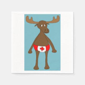 カナダ人、か。 アメリカヘラジカ スタンダードカクテルナプキン