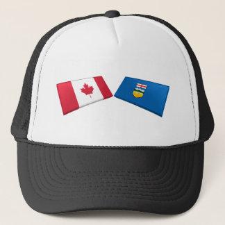 カナダ及びアルバータの旗のタイル キャップ