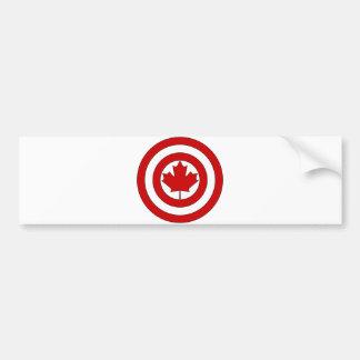カナダ大尉の盾の記号 バンパーステッカー
