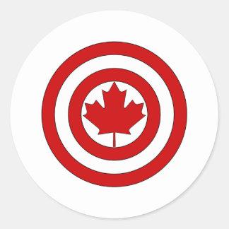 カナダ大尉の盾の記号 ラウンドシール