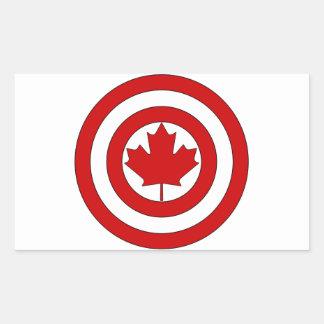 カナダ大尉の盾の記号 長方形シール