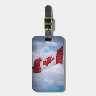 カナダ幸せな日の赤と白のカナダの旗 ラゲッジタグ