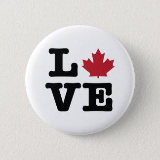 カナダ愛カエデの葉ボタン 5.7CM 丸型バッジ