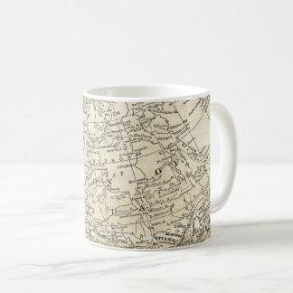 カナダ旅行ギフトの支配権のヴィンテージの地図 コーヒーマグカップ