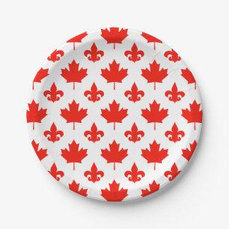 カナダ日あなたの背景色 ペーパープレート