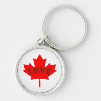 カナダ日のアメリカハナノキの葉のキーホルダーを愛して下さい キーホルダー