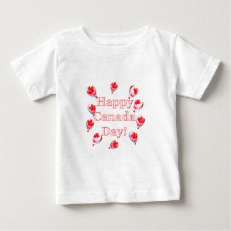 カナダ日のカエデの葉の気球 ベビーTシャツ
