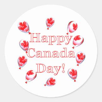 カナダ日のカエデの葉の気球 ラウンドシール