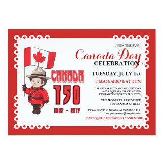 カナダ日150 BBQのお祝いの招待状 12.7 X 17.8 インビテーションカード