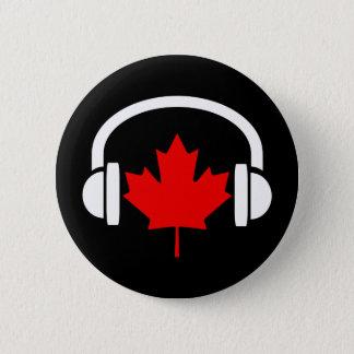 カナダ音楽 5.7CM 丸型バッジ