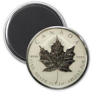 カナダ10ozの銀貨 マグネット