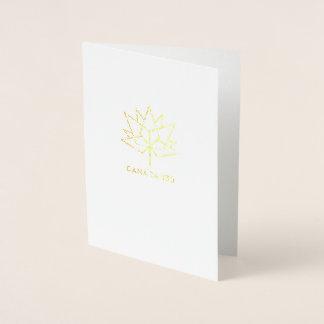 カナダ150の役人のロゴ 箔カード