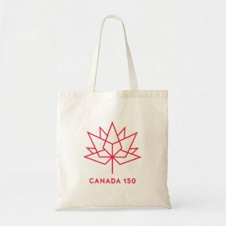 カナダ150の役人のロゴ-赤い輪郭 トートバッグ