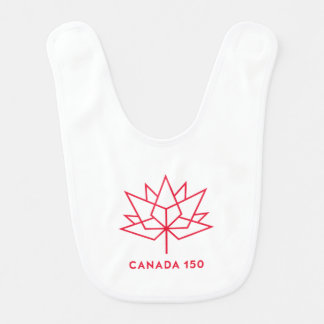 カナダ150の役人のロゴ-赤い輪郭 ベビービブ